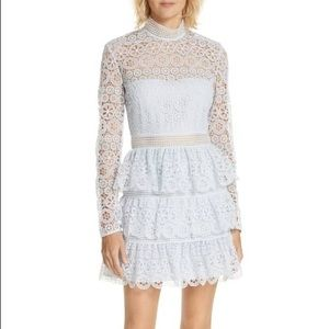 Circle Floral Lace Panelled Dress